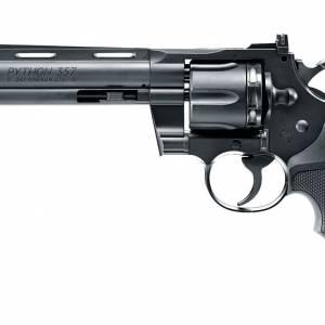 """Colt Python 357 6"""" Black 4.5mm BB & 177 Pellet Air Pistol"""