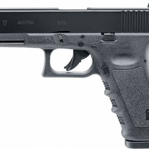 The Glock 17 Gen 4 Dual Ammo 4.5mm BB & 177 Pellet CO2 Pistolis the grandfather of the Glock pistols, the model that came at the very start.